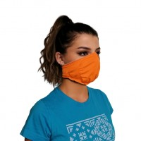 Ochranné rúško elastické antibakteriálne oranžové